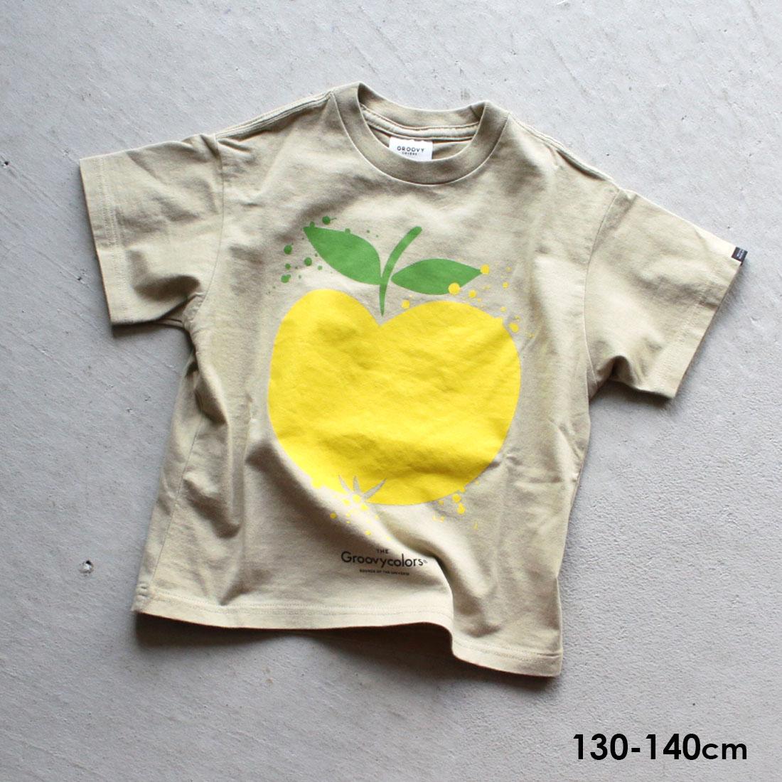 グルービーカラーズ GROOVY COLORS GROOVY DRIP APPLE BIG TEE(130cm 140cm)半袖 Tシャツ【メール便可】1612409