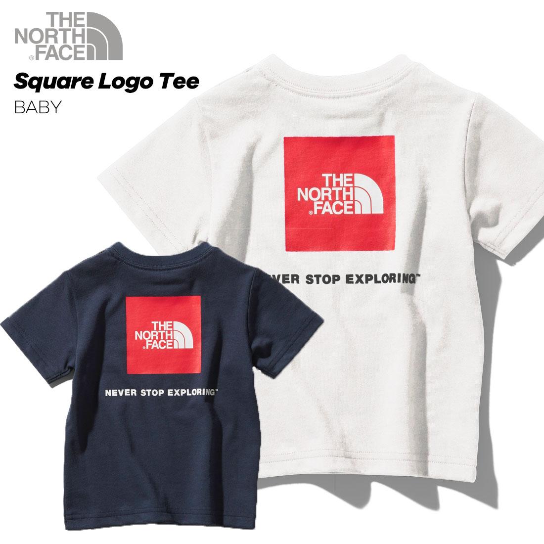 ノースフェイス THE NORTH FACE ○新作○BABY S/S Square Logo Tee(80cm 90cm)ショートスリーブスクエアロゴティー(ベビー)半袖Tシャツ 【メール便可】