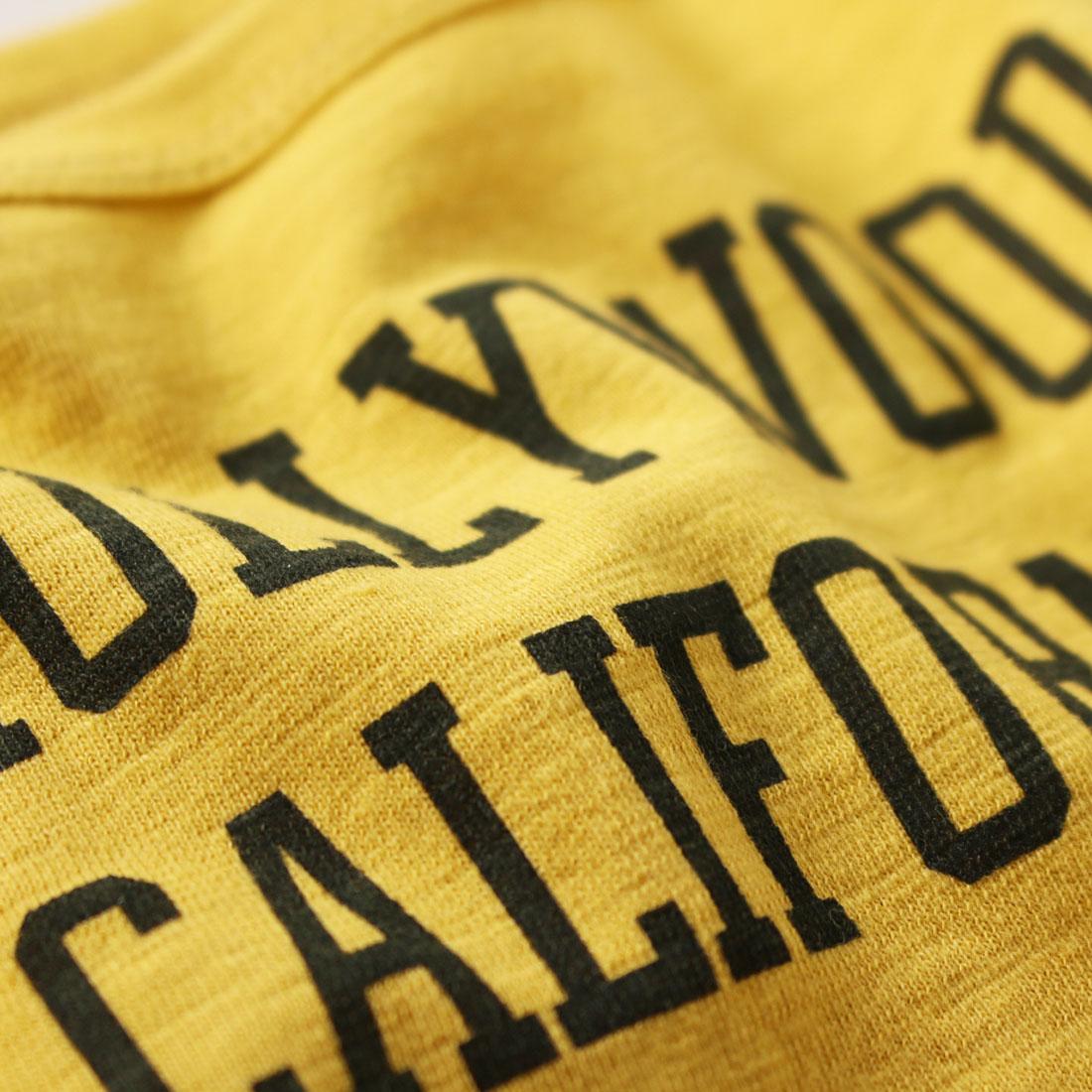 親子ペア お揃い ペアルック 長袖 Tシャツ HOLLYWOOD CALIFORNIA スラブ天竺ロンT(S M L)ジュニア レディース メンズ ユニセックス【メール便可】