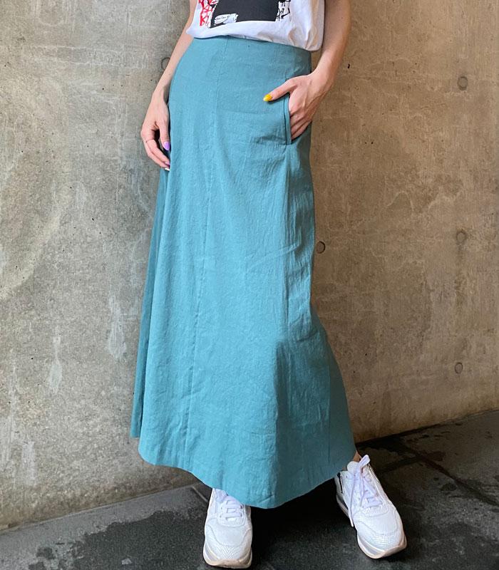 【MARIED'OR(マリードール)】リネンロングフレアースカート★☆