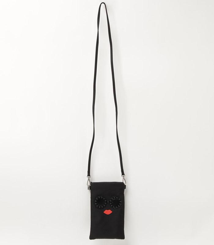 【a-jolie(アジョリー)】ブラックパールサングラスモバイルポシェット★☆