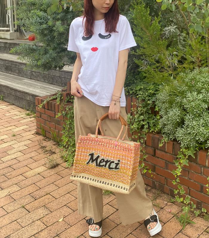 【a-jolie(アジョリー)】アイラッシュフェイスプリントTシャツ★☆