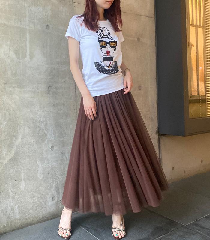 【ROSIEE(ロージー)】チュールフレアロングスカート★☆