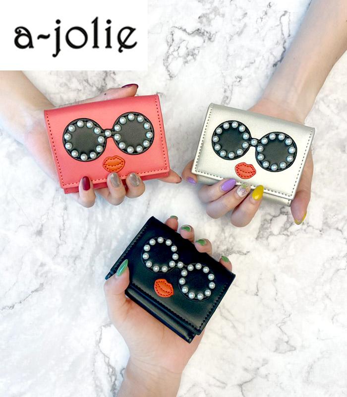 【a-jolie(アジョリー)】パールサングラスフェイスウォレット★☆