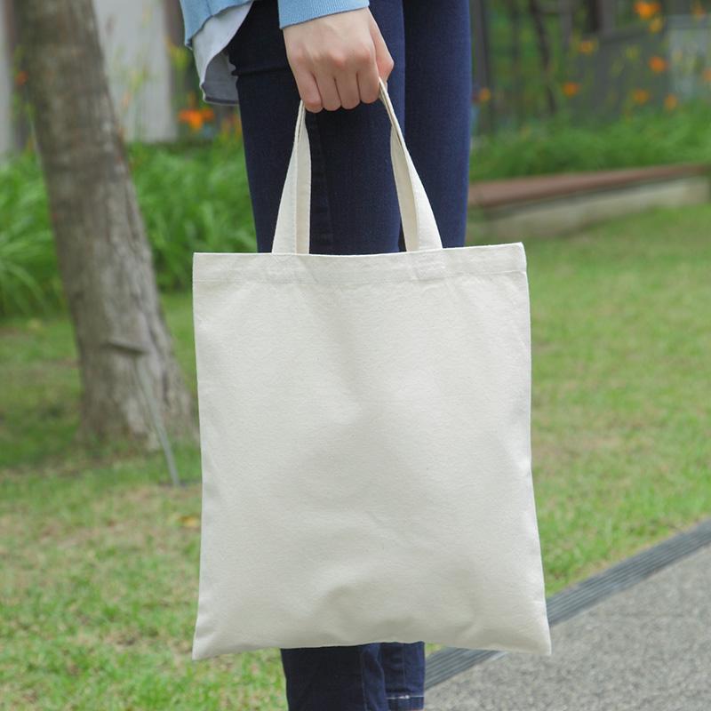 キャンバスショッピングバッグ10[B4程度/厚手/マチ無し]│名入れエコバッグ
