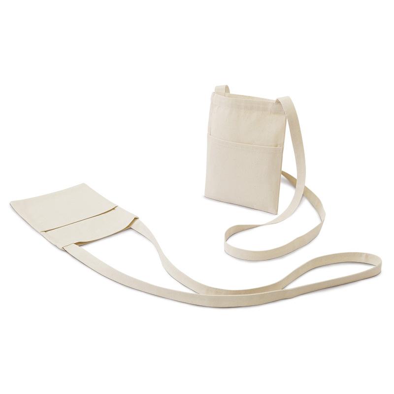 ライトキャンバスサコッシュ[B5程度/中厚手/マチ無し]│名入れエコバッグ