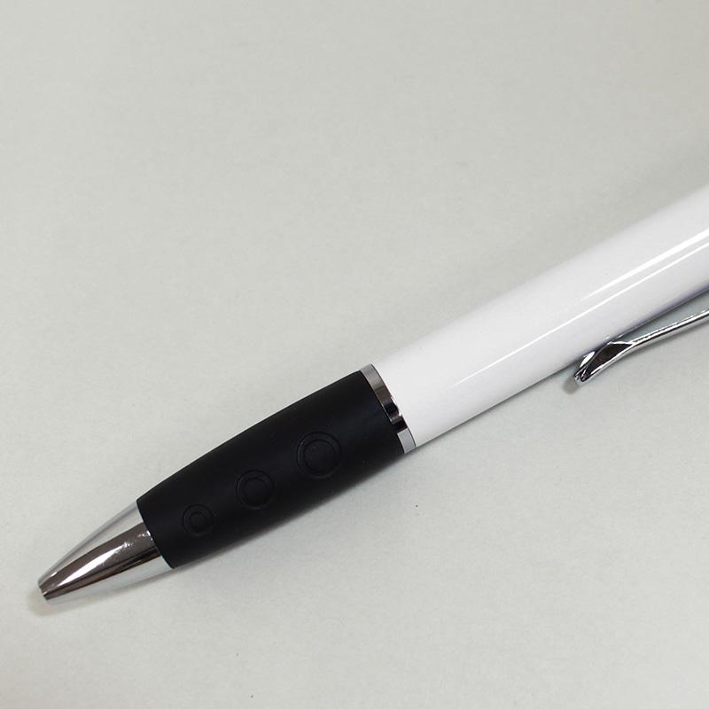 スイッチライトボールペン 白│名入れボールペン