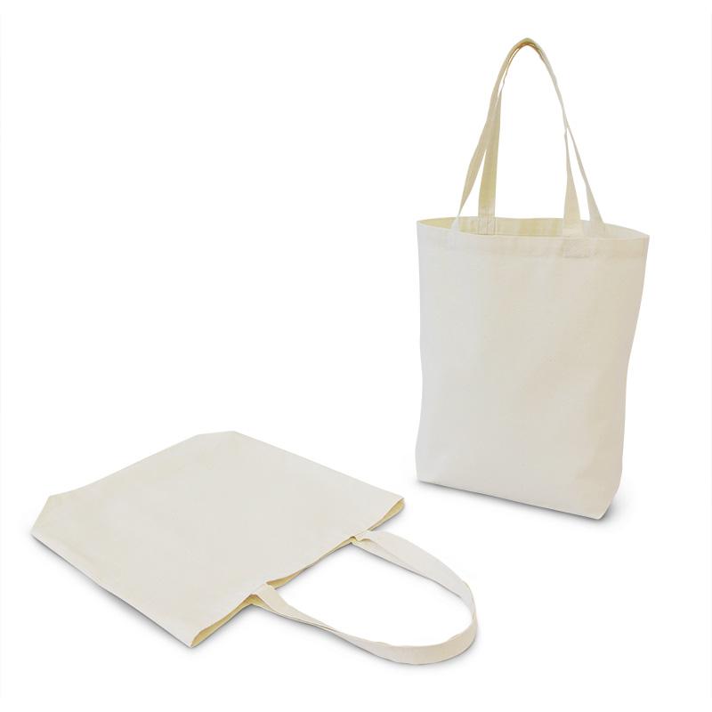 リサイクルコットンエコバッグ[B4程度/薄手/底マチ]│名入れエコバッグ