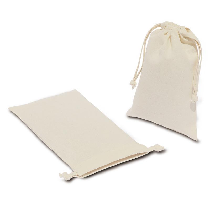 コットン巾着(Sサイズ)[B5程度/薄手/マチ無し]│名入れエコバッグ