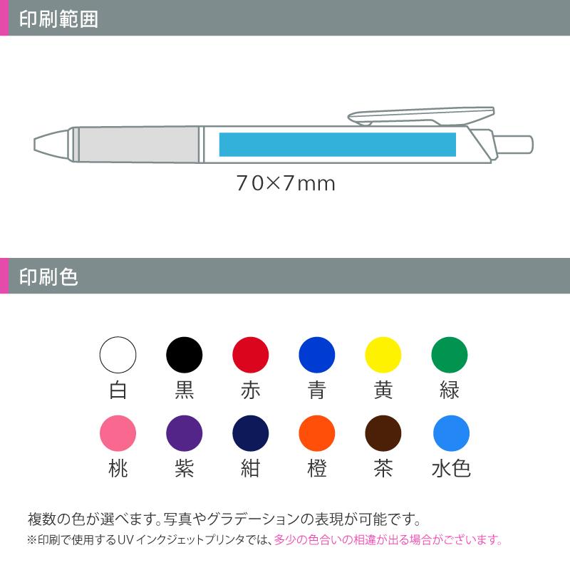 ぺんてる クルット ワイドオープンクリップ 白軸│名入れボールペン