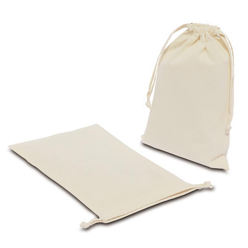 コットン巾着(Mサイズ)[B4程度/薄手/マチ無し]│名入れエコバッグ