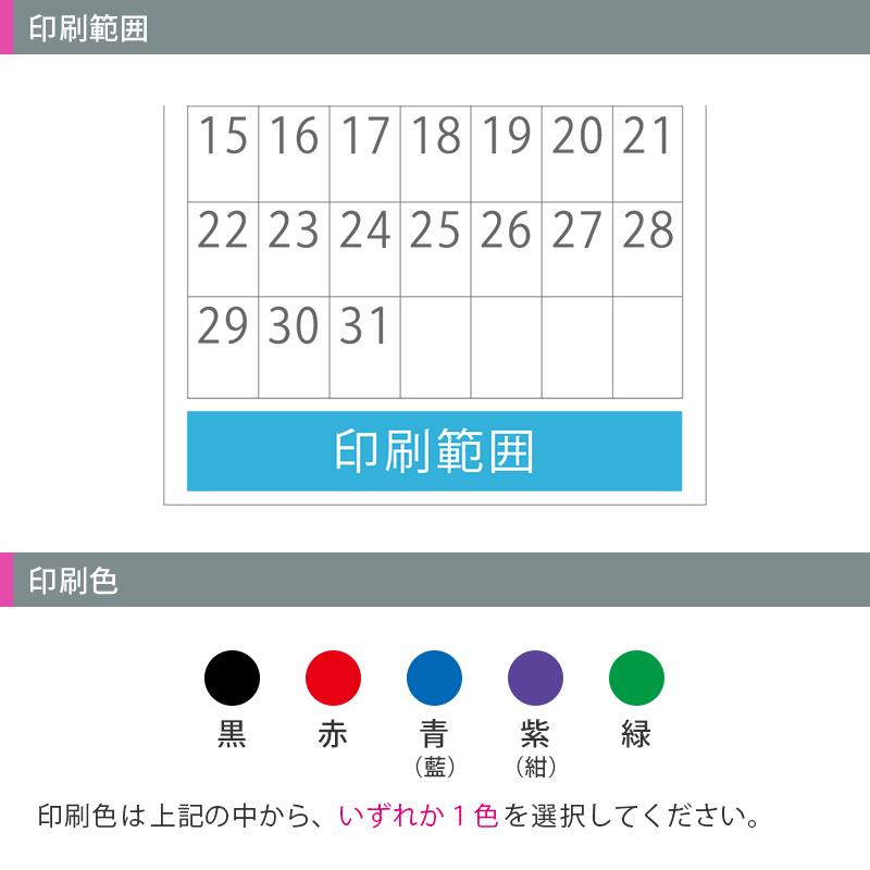 【最終便】カラーラインメモ・3ヵ月文字│名入れカレンダー