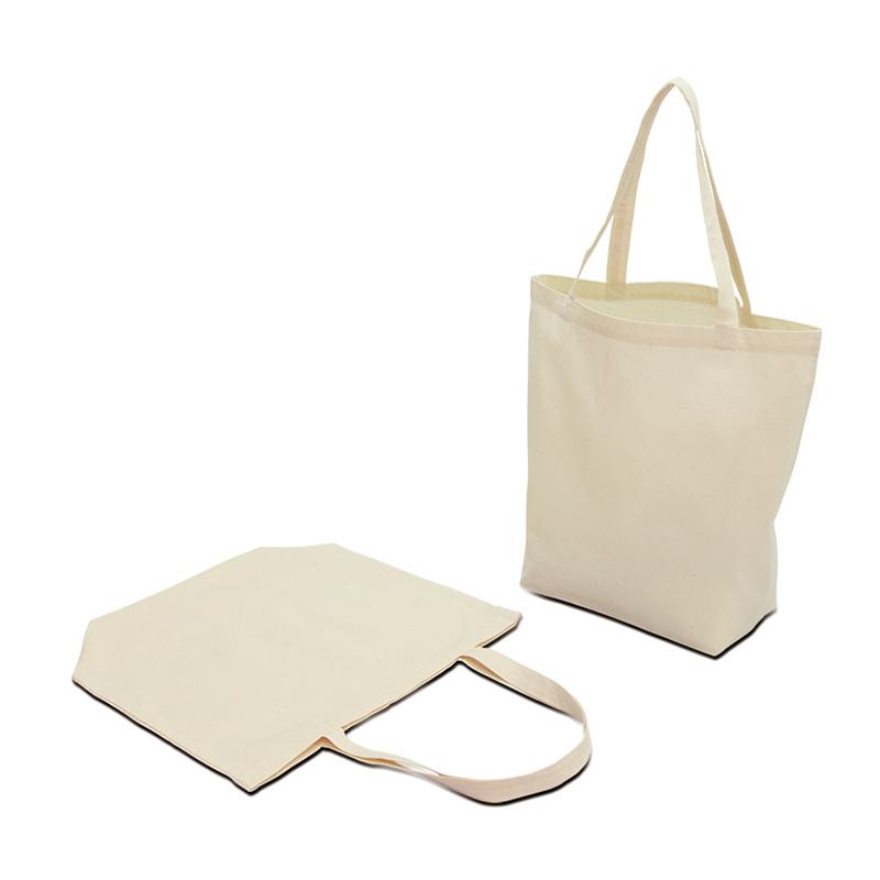 コットンエコトートバッグ[B4程度/薄手/底マチ]│名入れエコバッグ