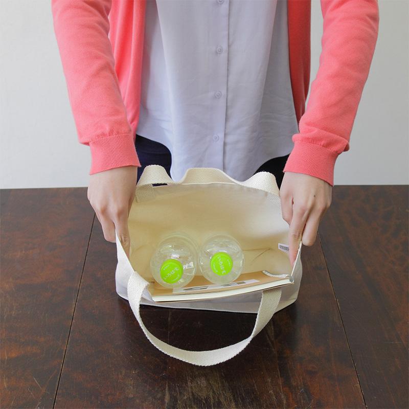 キャンバスエコランチバッグ[B5程度/厚手/底マチ]│名入れエコバッグ