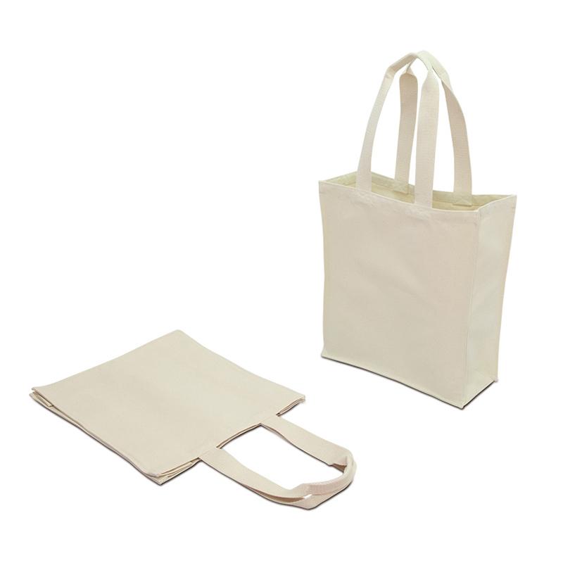 キャンバスショルダーバッグ[A3程度/厚手/3方マチ]│名入れエコバッグ