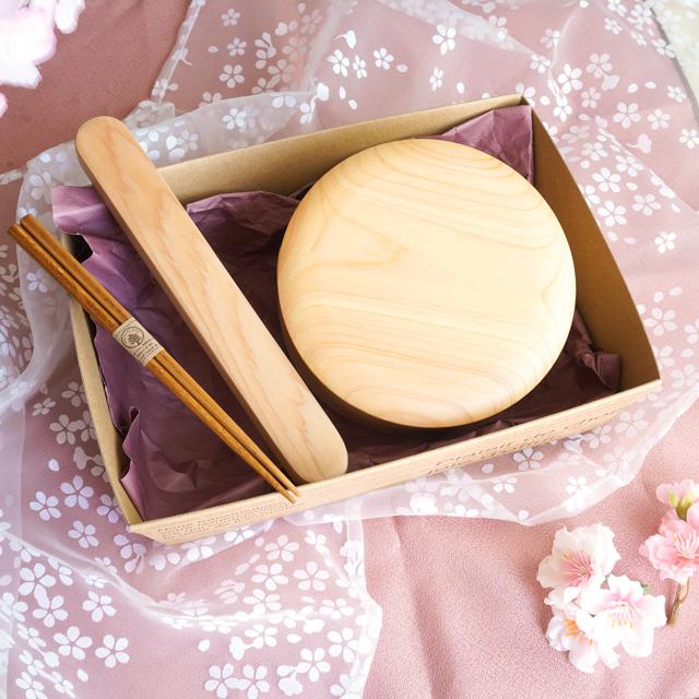 日本のお弁当箱とお箸のギフトセット