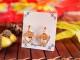 ゆれる秋の葉っぱのプチピアス・イヤリング いちょう かえで もみじ どんぐり