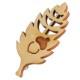 どんぐりとナラの葉っぱブローチ