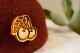 さくらんぼの実のブローチ【森の木の実シリーズ】