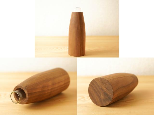 無垢の木の一輪挿し(ミニマルな円柱型・コニカル)