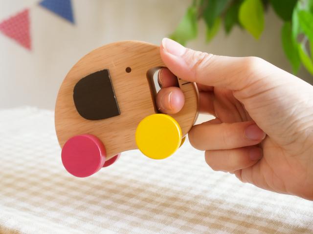 【0歳からの木のおもちゃ】コロコロエレファントカー