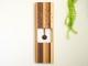 寄木の振り子時計 ウォールクロック モザイク