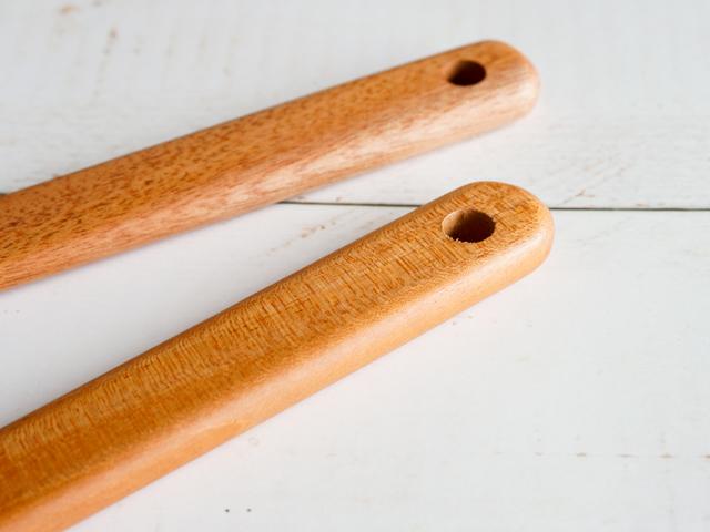 マホガニーの木べら ラウンドタイプ