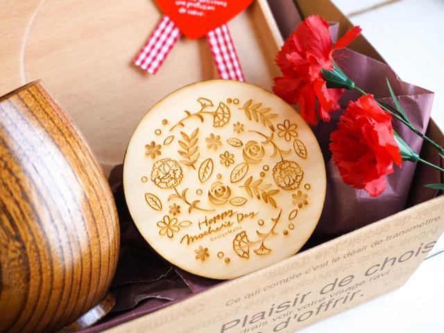 【母の日】木の食器ギフト 急須&トレイ付ティータイム5点セット