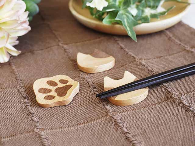 ねこ箸置き トラ、ブチ、にくきゅう