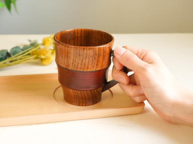 【父の日&母の日】木の食器ペアギフト 急須&トレイ付ティータイム7点セット