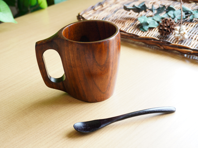 【父の日】木の食器ギフト マグカップ&スプーン 2点セット
