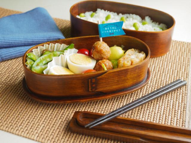 【父の日】木の弁当箱ギフト 2段わっぱ&箸・箸箱セット