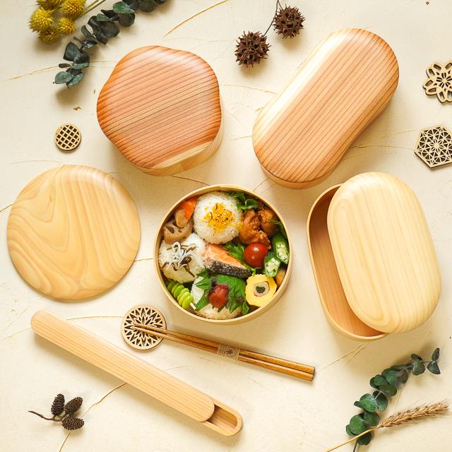 日本の弁当箱 ひのきわっぱ 丸