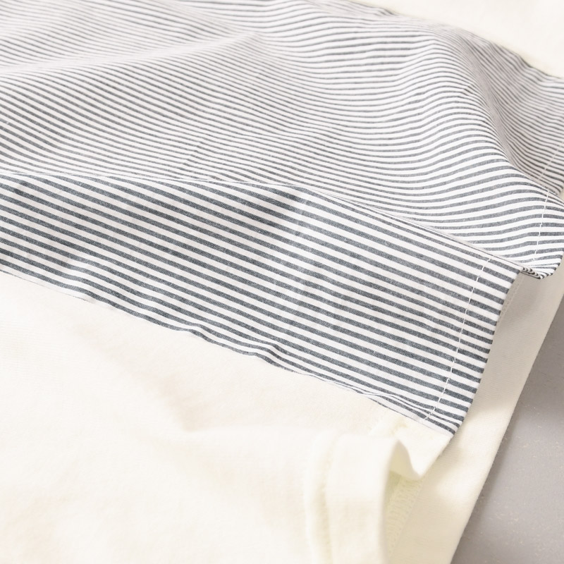 ストライプコンビ Tシャツ(半袖)