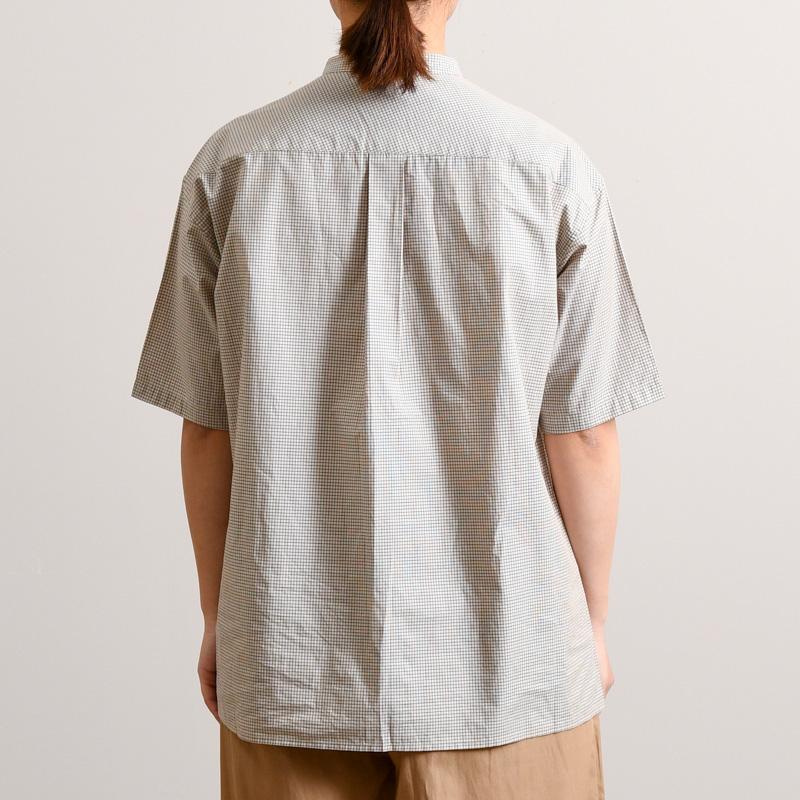 タイプライターミニチェック ブラウス(5分袖)