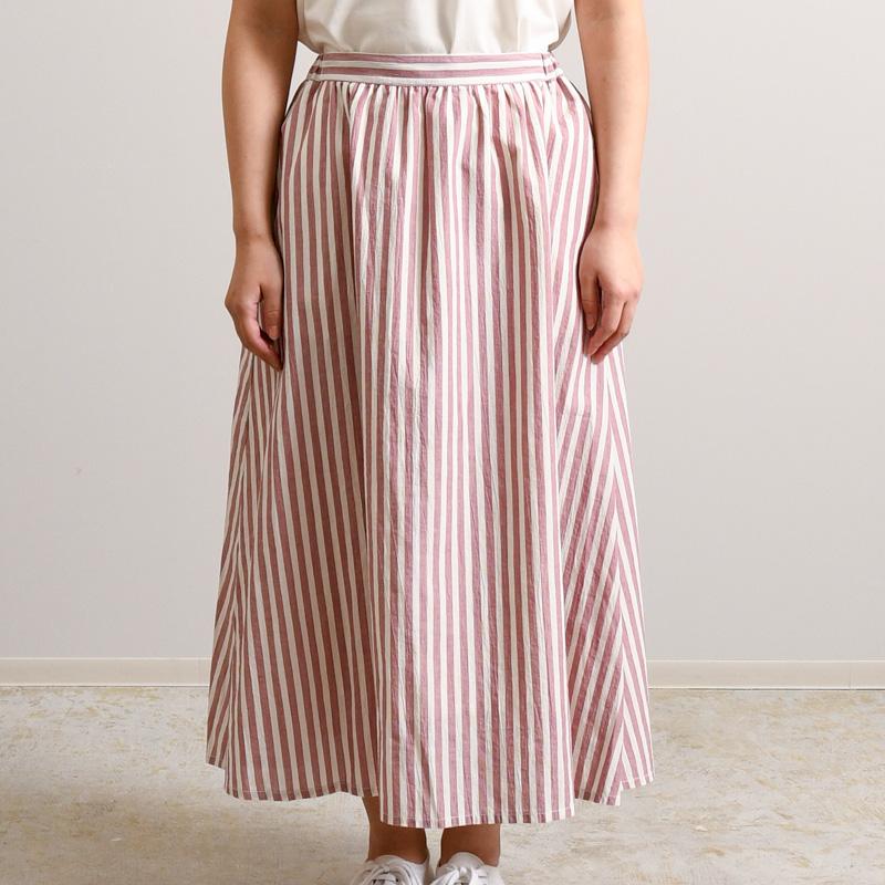 ワッシャーボイルストライプ スカート