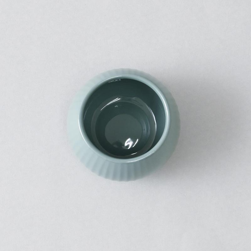 ポタリーベース3 フラワーベース(ツヤストライプ)S
