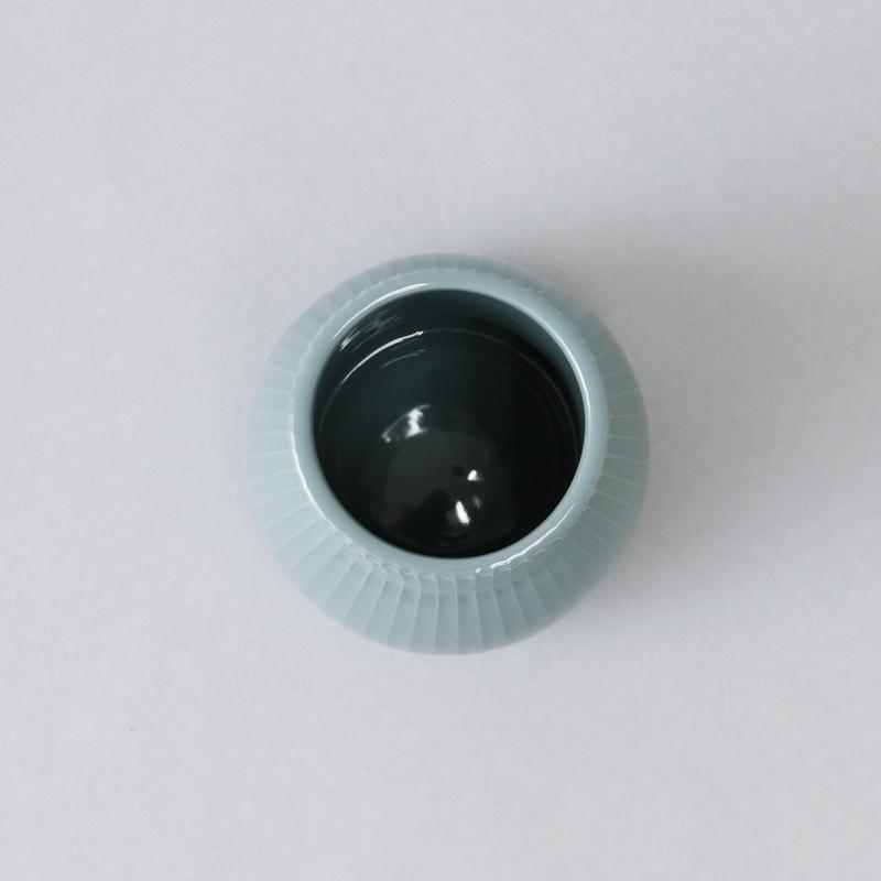 ポタリーベース3 フラワーベース(ツヤストライプ)L