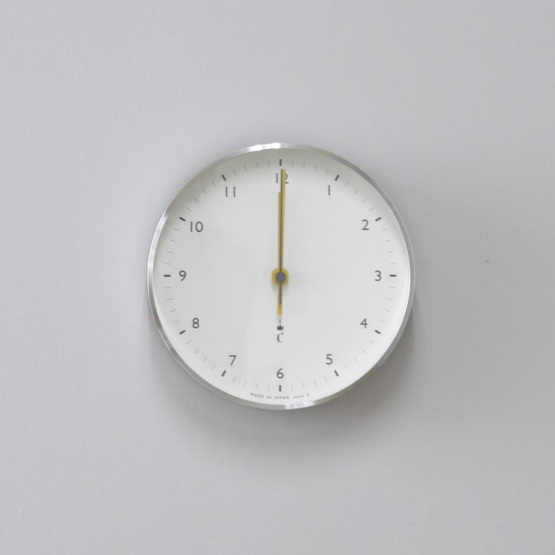 アルミクロック(掛け置き電波時計)