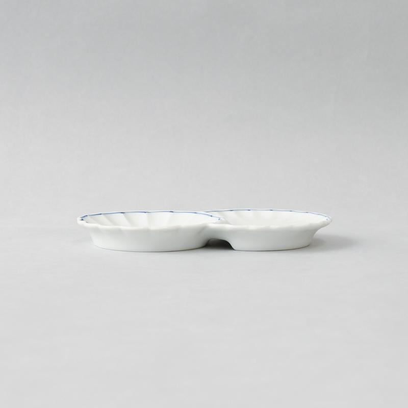 線模様 菊皿