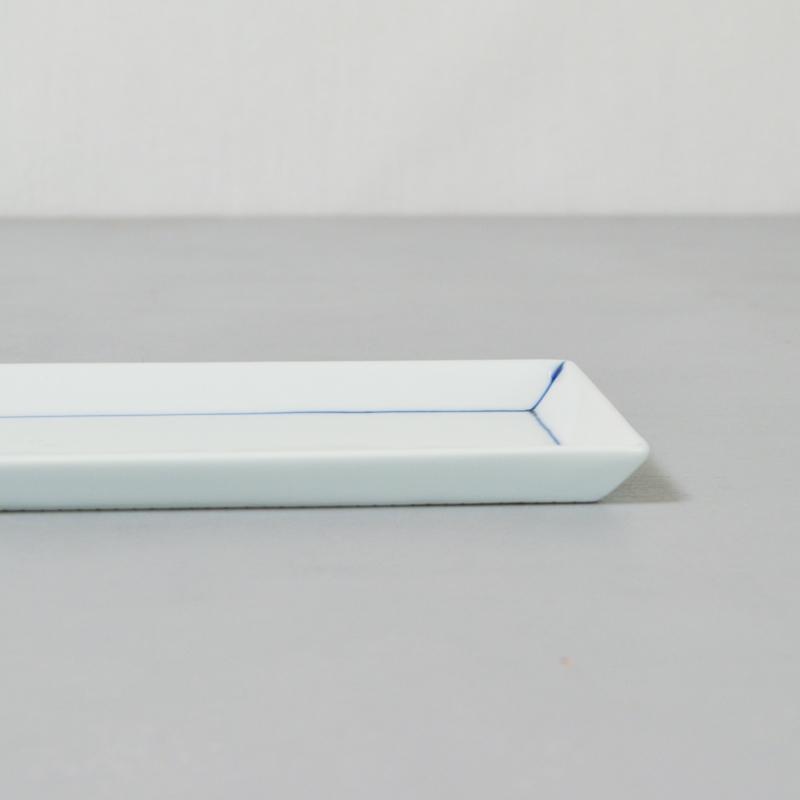線模様 長角皿(わく)