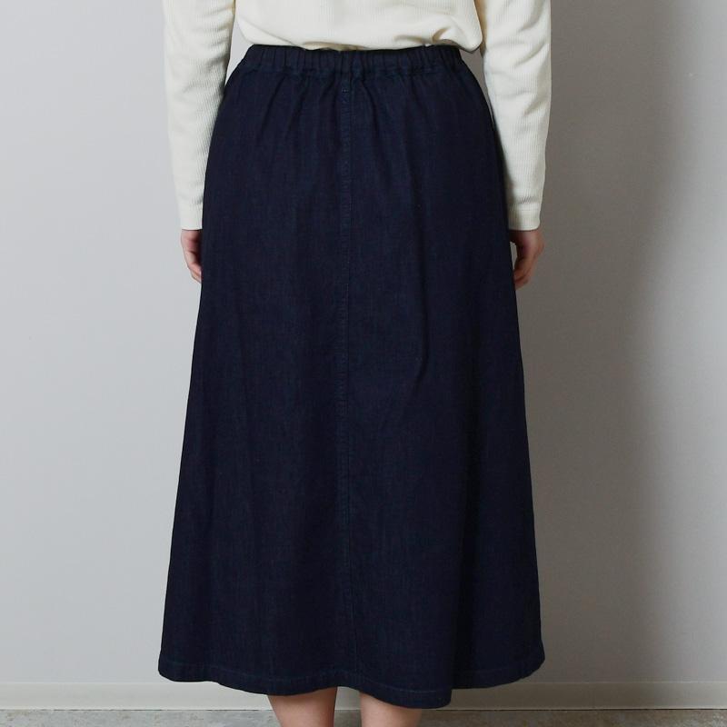 ソフトデニム スカート