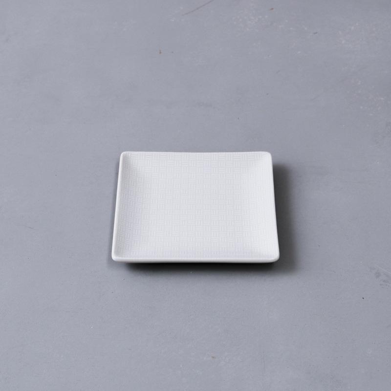 紋模様 角小皿(市松)
