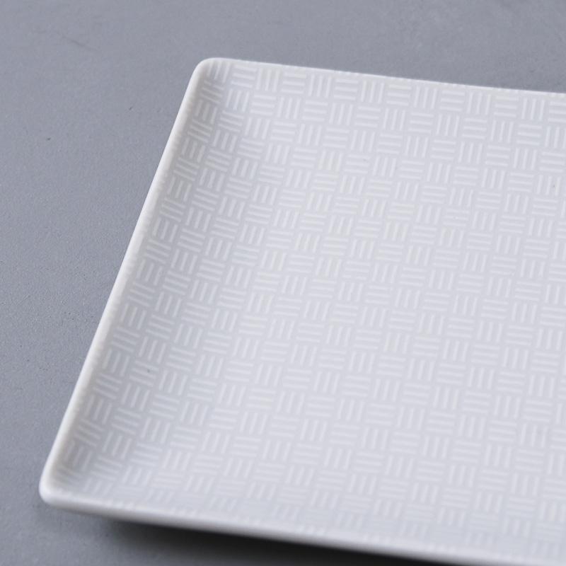 紋模様 角豆皿(市松)