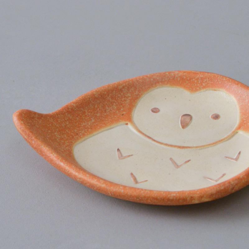 フォレストアニマル 小皿(フクロウ)