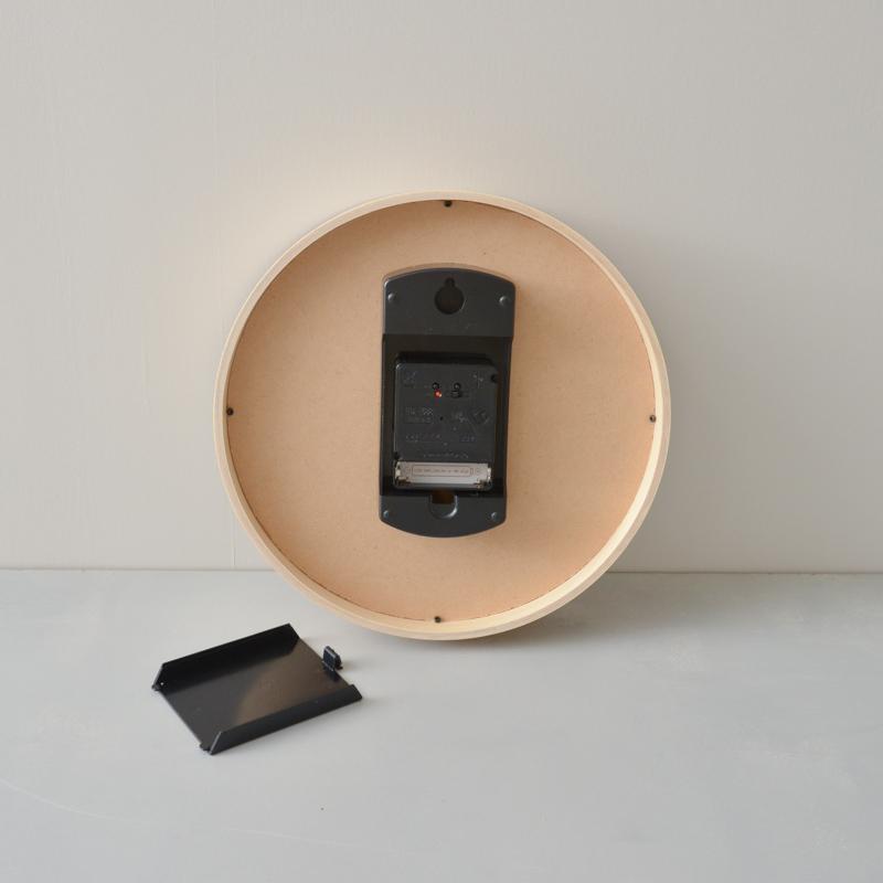 ウッドクロック(掛け電波時計)