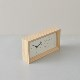 フレームクロック(温湿度計付置き時計)