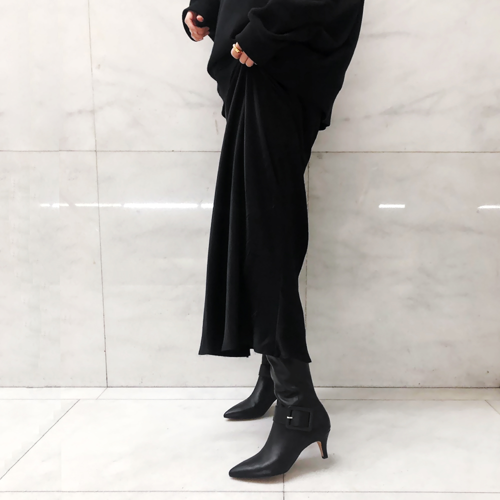 【40%OFF】バックルロングブーツ BLK Dhyana.