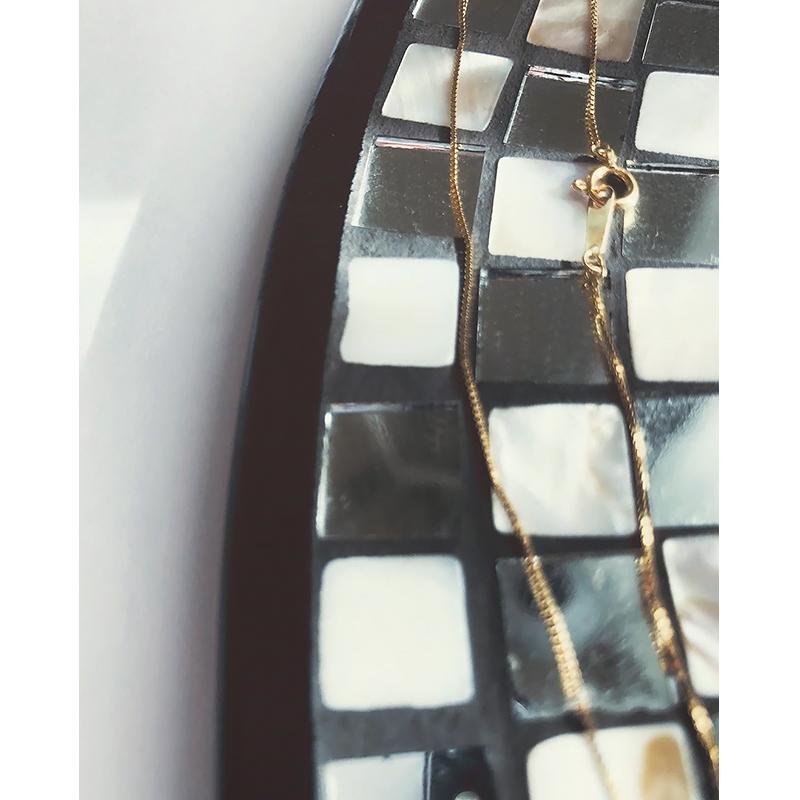 ゴールドチェーンネックレス 35cm COUDRE