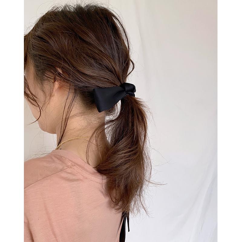 【予約】RIBBON HAIR TIE[BLACK] COUDRE